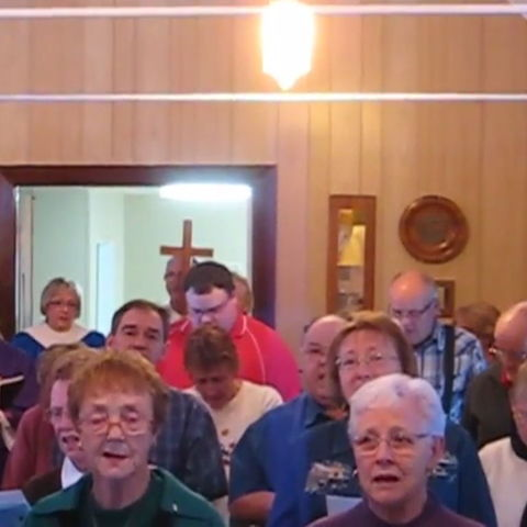 St. Mary's Anglican Church in Edgerton, AB singing Silent Night