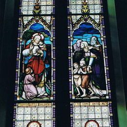 Stained glass at St. John's