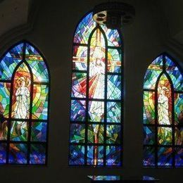 Sacred Heart stained glass