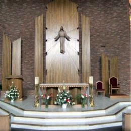 The altar and pulpit
