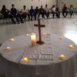 St. Helen Catholic School Living Rosary 2014